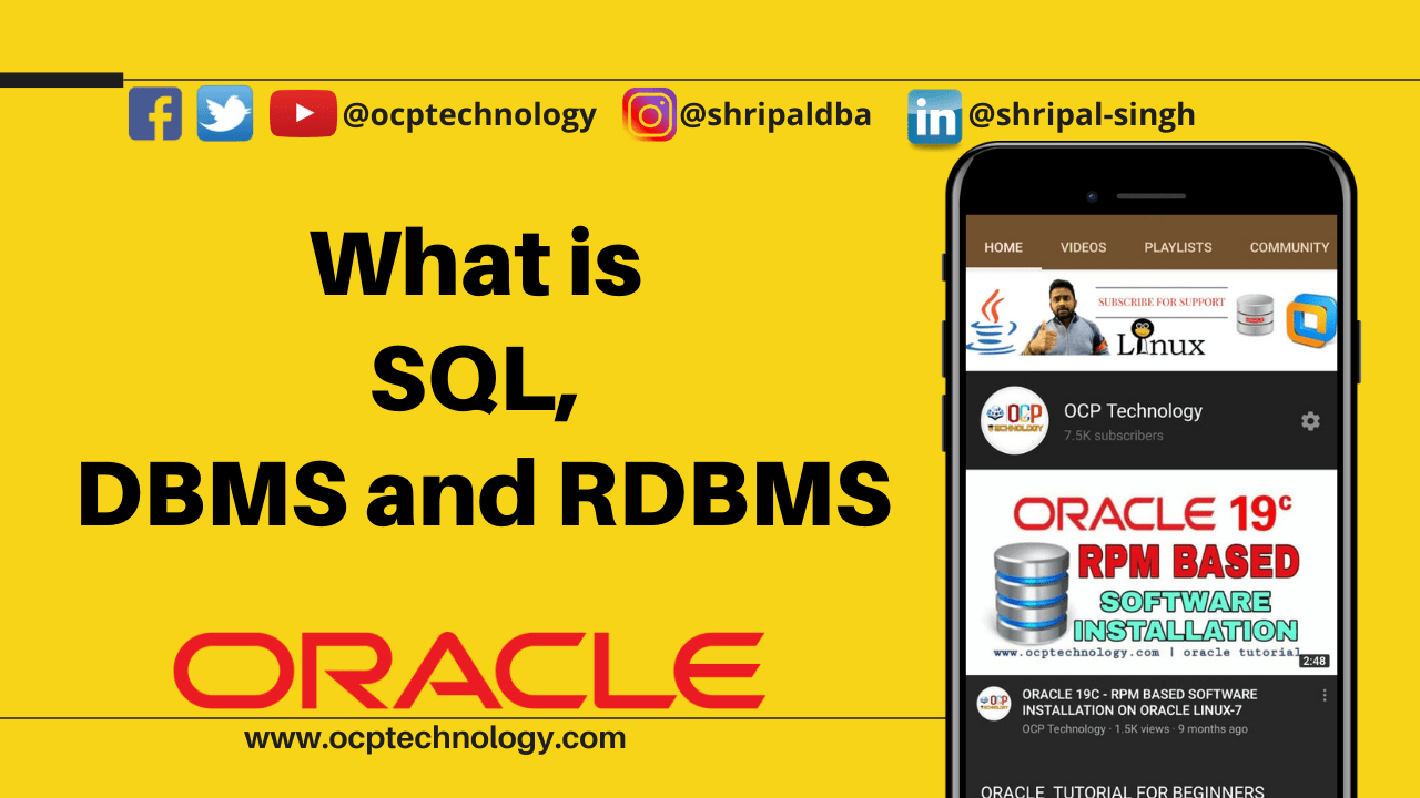 What is SQL DBMS and RDBMS