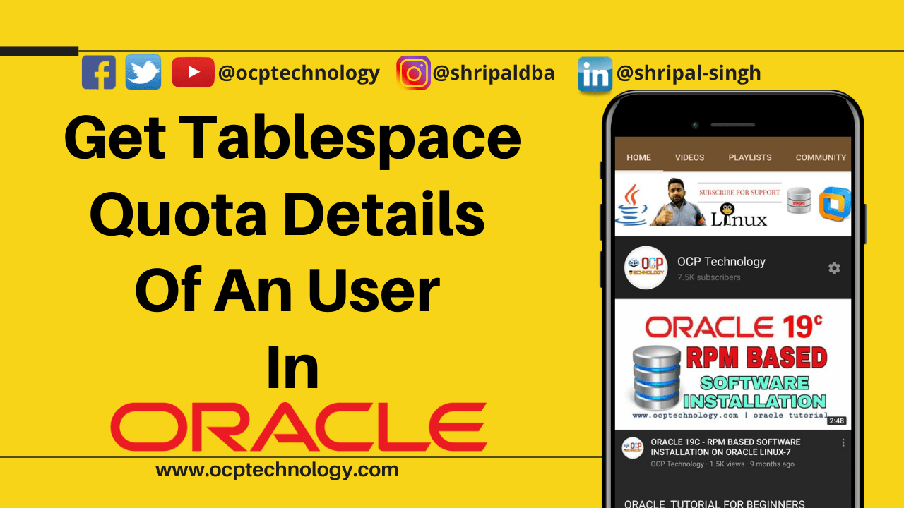 Get Tablespace Quota Details Of An User In Oracle