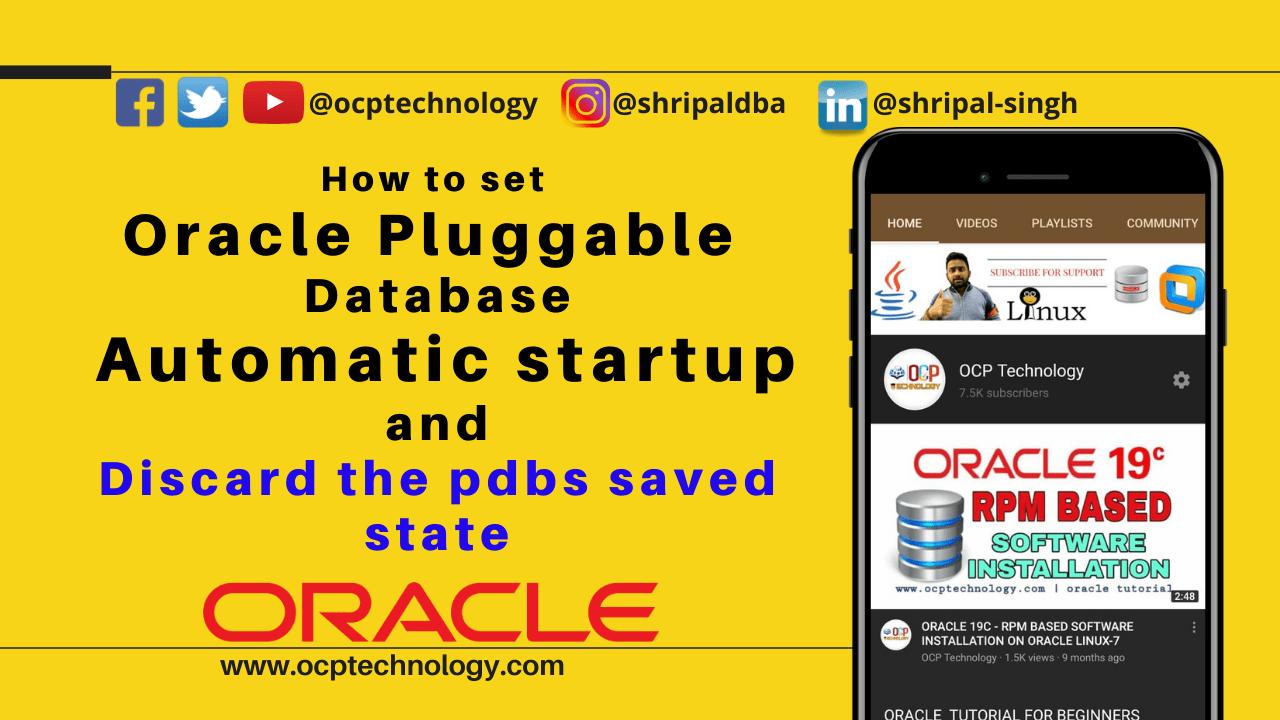 Pluggable Database Automatic startup