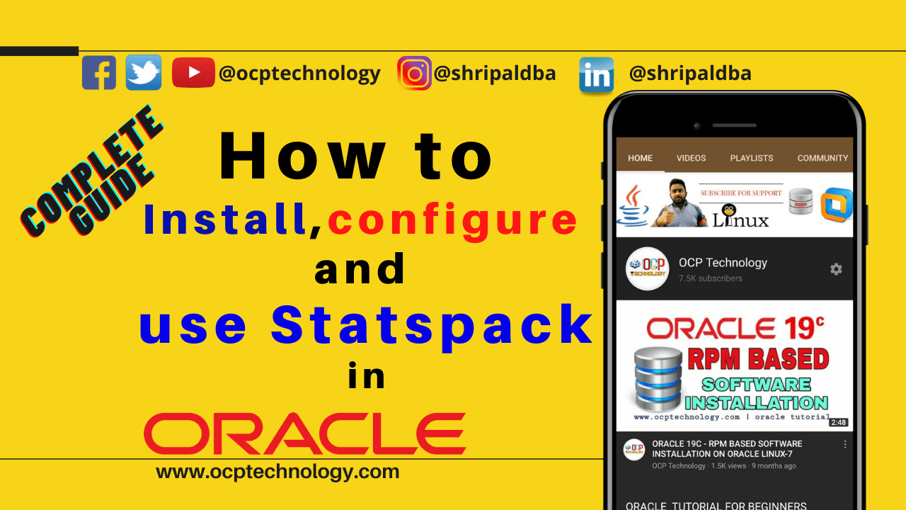 Statspack in Oracle