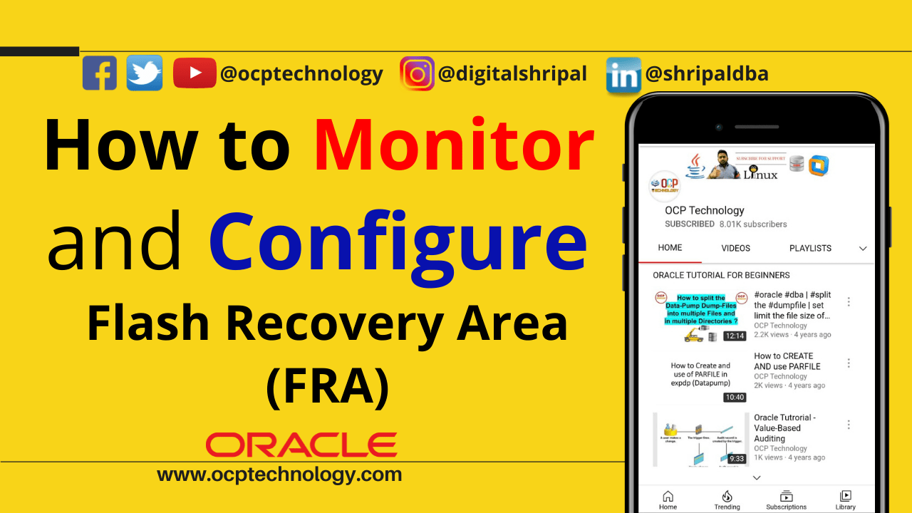 Flash Recovery Area