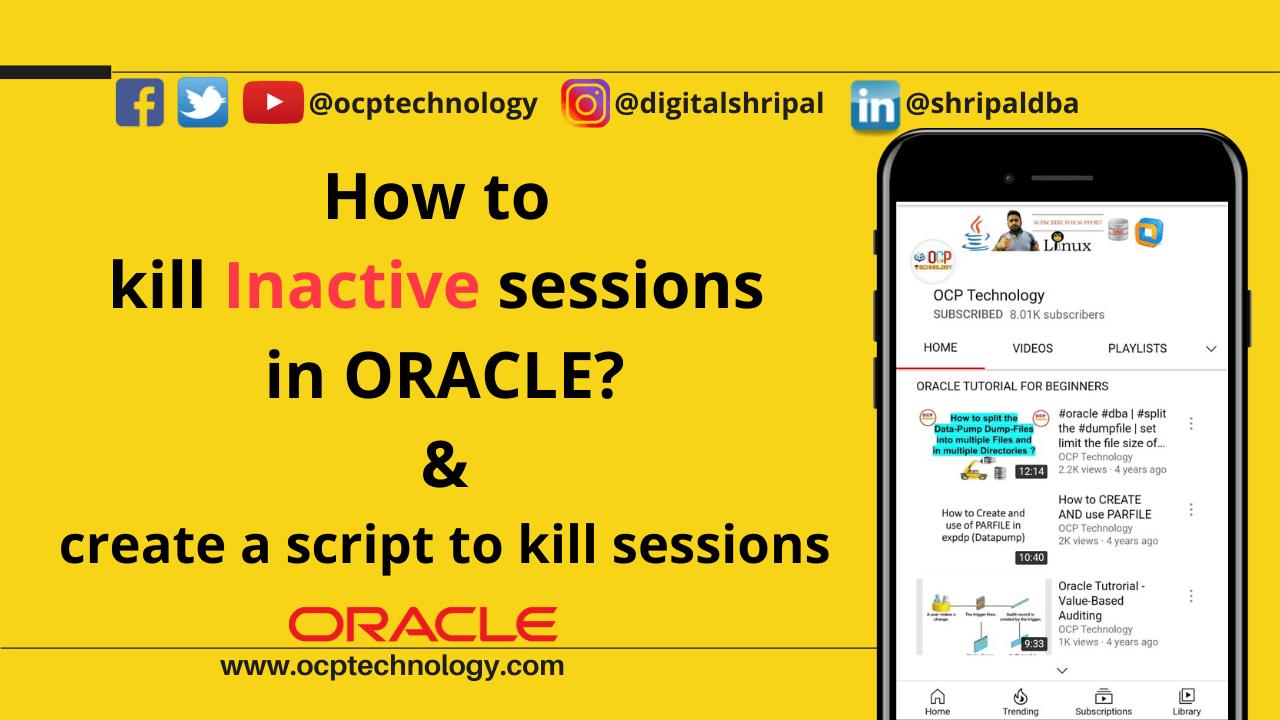 kill Inactive sessions