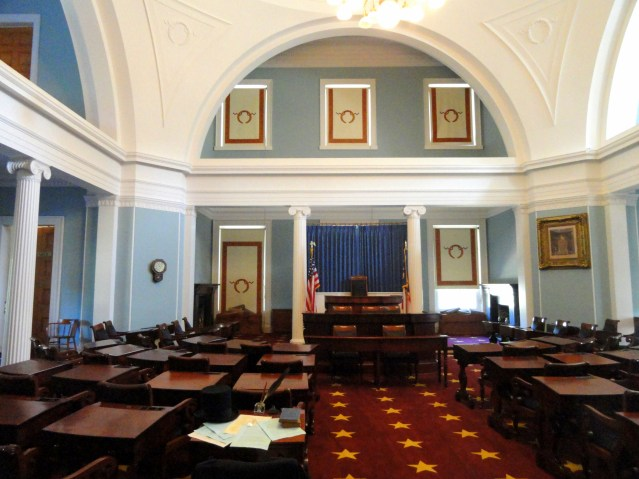 Senate chamger, NC State Capitol  Photo courtesy of Commons  Wikimedia.org