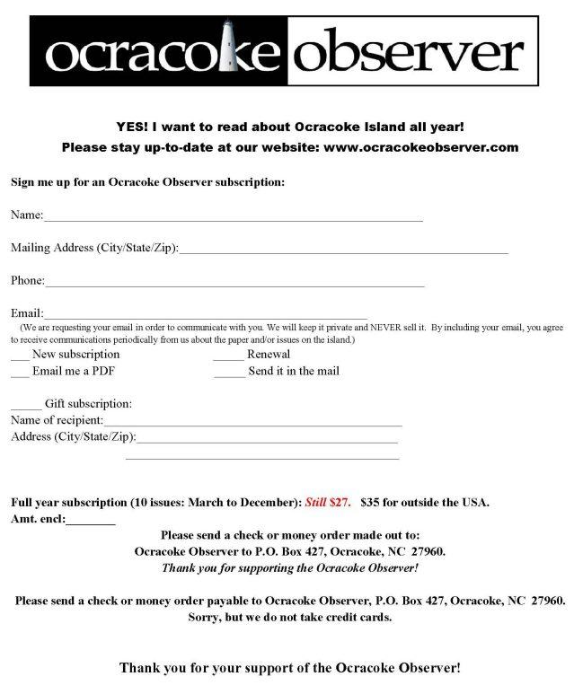 Subscription form 2016