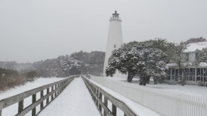 Ocracoke lighthouse winter of 2014. Photo by P. Vankevich
