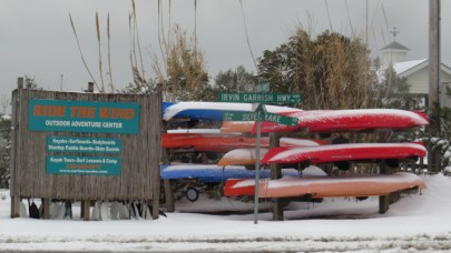 Ride the Wind Surf & Kayak shop winter of 2014. Photo by P.Vankevich