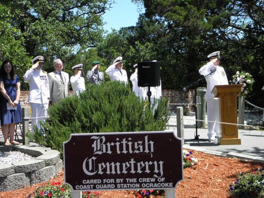 British Cemetery: a final salute.  Photo by  P. Vankevich