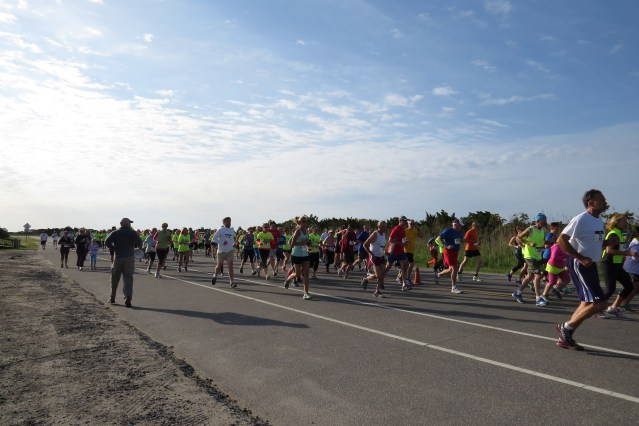 They're off! The 5K/10K begins. Photo by C. Leinbach