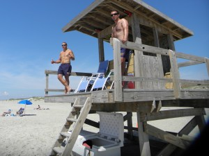 Lifeguards on Ocracoke. Photo by C. Leinbach