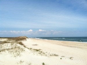 The Ocracoke beach.