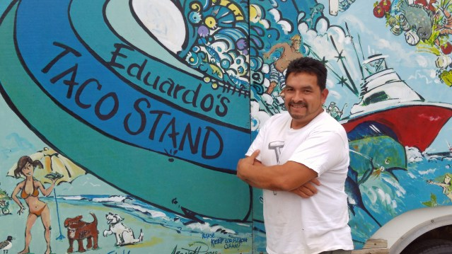 Eduardo at his taco stand. Photo by P. Vankevich