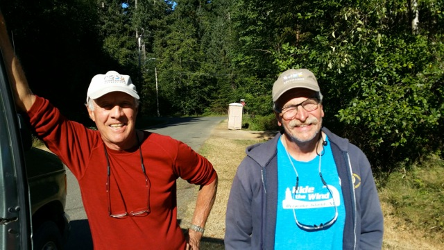 Bill Monticone and Jim Borland on their summer kayaking trip.