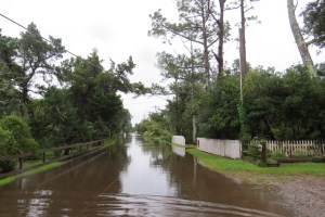 High water on Back Road Friday, Sept. 25.