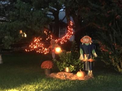 Halloween along Back Road.