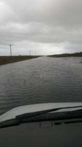 Island EMT Sandy Yeatts took this shot yesterday of water on the road.