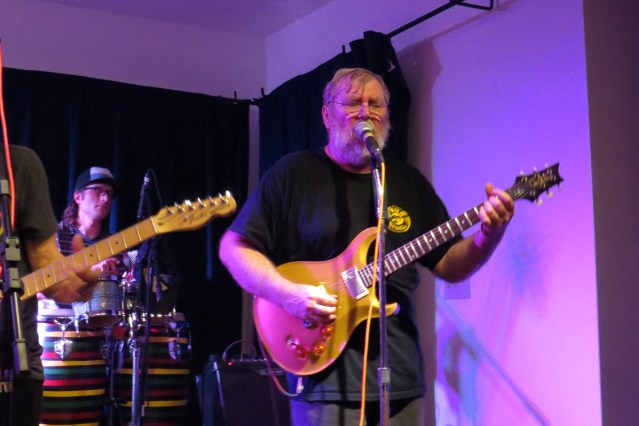 Martin Garrish and various friends will play during the month at the Ocracoke Oyster Company