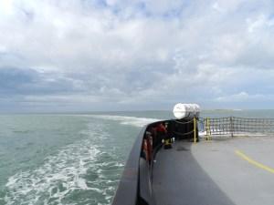 Ferry leaving Ocracoke