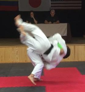 Raul Ibarra flips Casey Robertson.