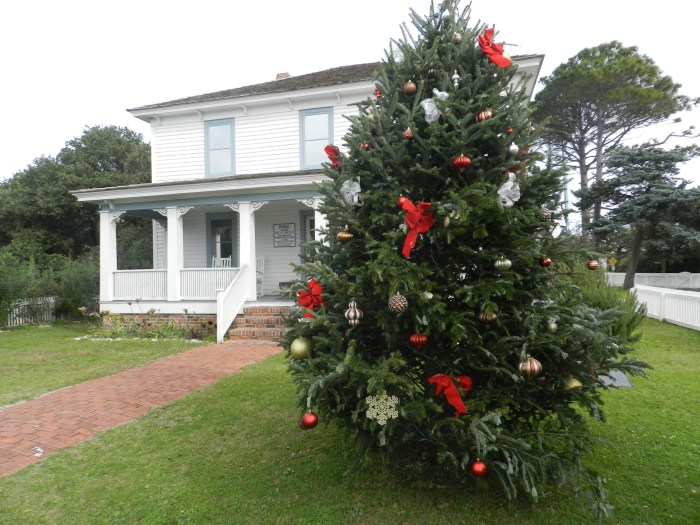 The Ocracoke Preservation Society, Ocracoke, N.C., has the community Christmas tree. Photo: C. Leinbach