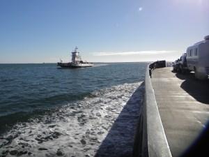 On the Ocracoke-Hatteras ferry.