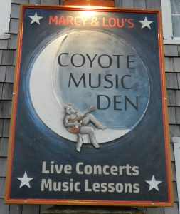 Coyote Music Den sign