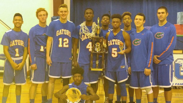 Holiday Tournament champs, Greeenbrier Christian Academy Gators. Photo by P. Vankevich