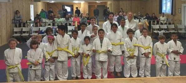 The judo graduates. Photo courtesy of Gustavo Sanchez