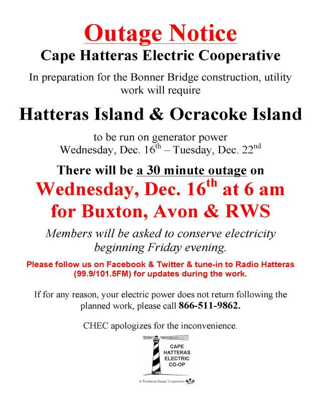 Outage Notice CHEC