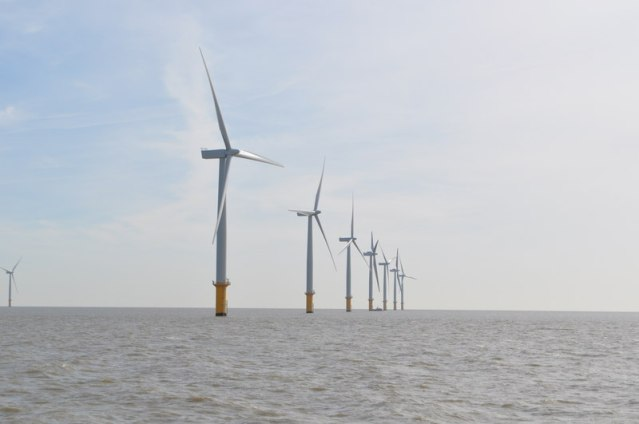 Gunfleet Sands offshore wind farm. Photo courtesay of Wikimedia Commons