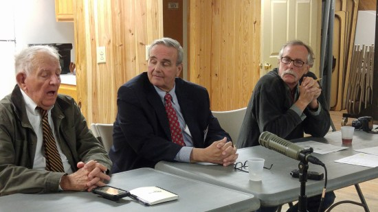 Left to right John Fletcher, Warren Judge and Tom Pahl. Photo by