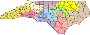 North Carolina Congressional map. Source North Carolina General Assembly