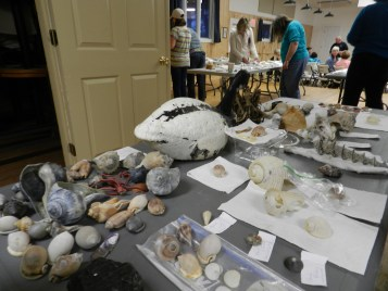 The groups table full of items found on Portsmouth.