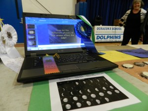 Mac Kalna's project on how the moon affects tides took top honors Wednesday at the STEM Fair.