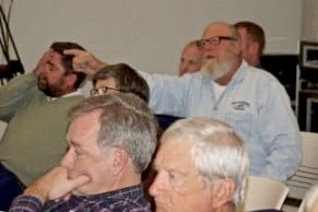 """Frustration was evident in the body language of Capt. Steve """"Creature"""" Coulter and other charter boat operators over the lack of solutions and options to dredge shoaled areas of Hatteras Inlet."""