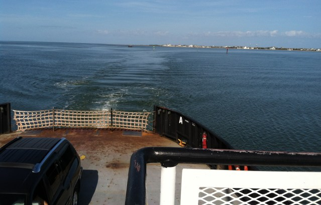 The Hatteras Ferry crosses to Ocracoke.