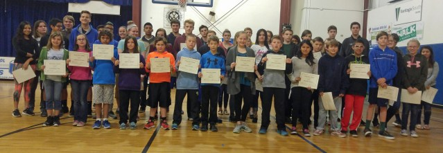 Ocracoke honor roll students getting A's and B's. Photo by P. Vankevich