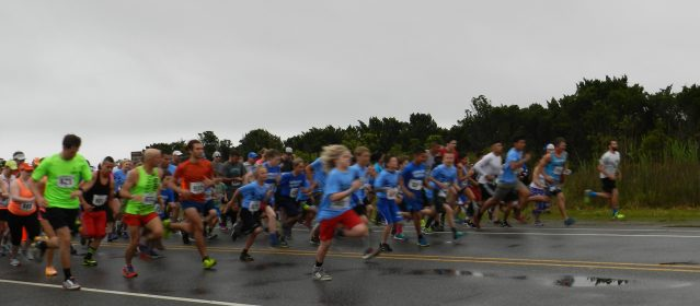 The Fifth Annual Ocracoke 10K/5K Race begins.