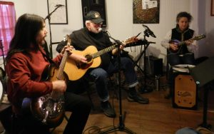 A recent open jam in Coyote Music Den. Photo: C. Leinbach