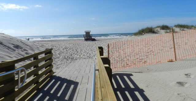 """The newly renovated boardwalk to the Lifeguard Beach, which also received the No. 4 honor in Dr. Beach's annual """"Top 10 Beaches in the United States."""""""