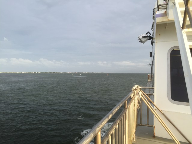 The Swan Quarter ferry heads for Ocracoke. Photo: C. Leinbach