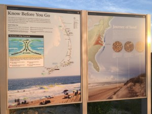 The NPS posts signs like these at beach access points. Photo: C. Leinbach