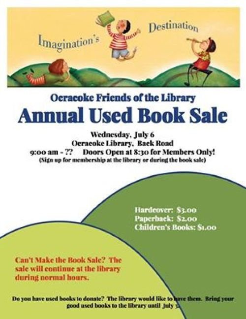 Ocracoke used book sale