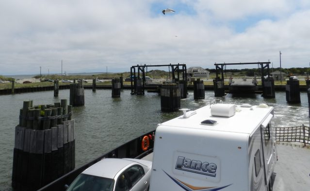 The ferry terminal at the north end of Ocracoke.