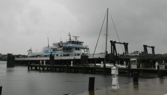 Visitors catch the midday Swan Quarter ferry on Friday. Photo: C. Leinbach