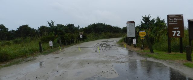 As part of the mandatory evacuation for visitors, Ramp 72 to Southpoint is closed. Photo: C. Leinbach