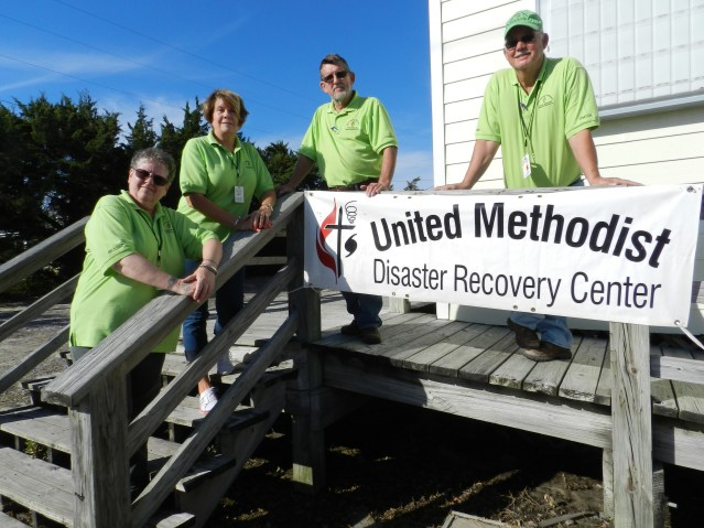 The UMCOR team is, from left, Donna Brander, Carol Evans, Tommy Gilbert and Don Evans. Photo: C. Leinbach