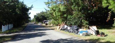 Debris from Hurricane Matthew on Ocracoke, NC