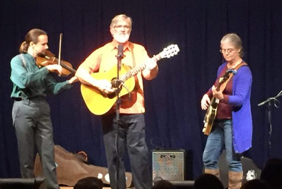 Performing for Ocrafolk Festival fundraising concert last year are Dave Tweedie, Gary Mitchell and Kitty Mitchell. This year's concert is at 7:30 p.m. Friday in the Community Center.