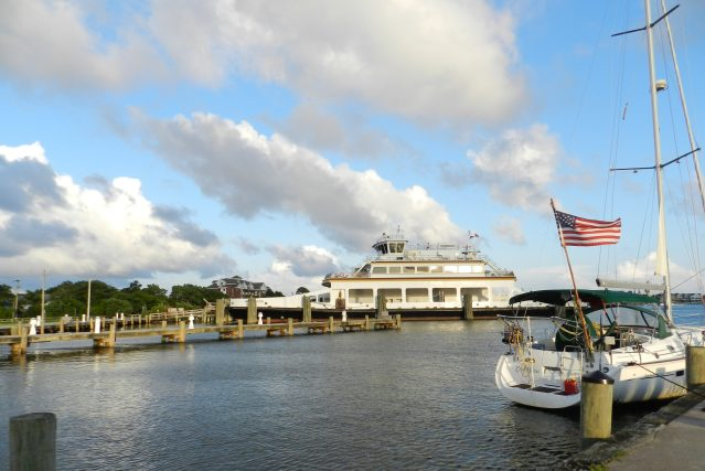 The ferry dock at Silver Lake harbor on Ocracoke. Photo: C. Leinbach