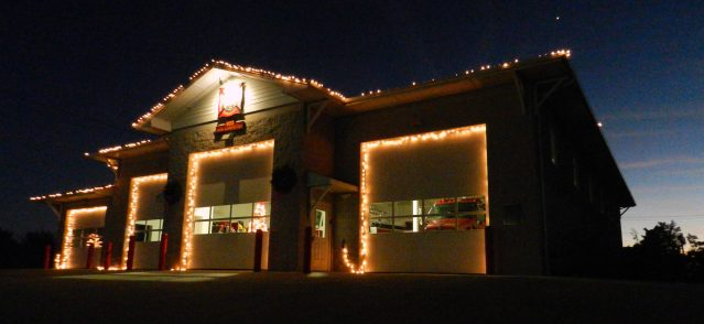 The Ocracoke Volunteer Fire Departments light display won Best of show for businesses.